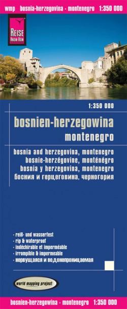 Wegenkaart Bosnia-Herzegovina/Montenegro 1:350.000 (2.A 2020)