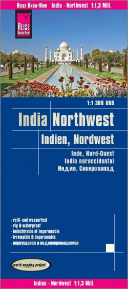 Wegenkaart India - Northwest 1:1,3 Mio. 7.A 2018
