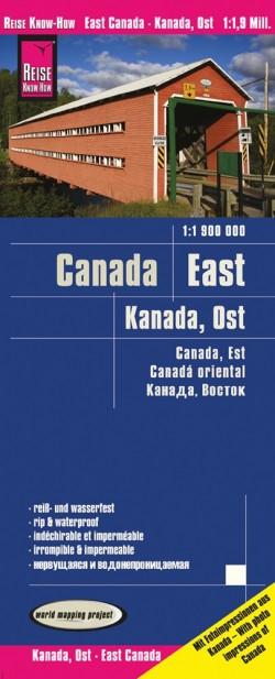 Wegenkaart Canada East/Kanada Ost 1:1.9 Mio  6.A 2019
