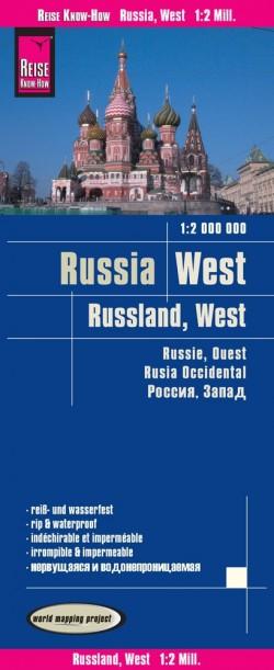 Landkaart Russia West | Russland West 1:2.000.000 6.A 2018