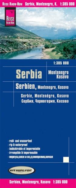 Wegenkaart Serbia-Montenegro-Kosovo 1:385.000  6.A 2019