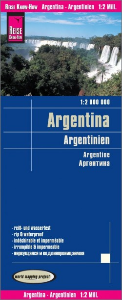 Wegenkaart Argentina |  Argentinien 1:2m 10.A 2018