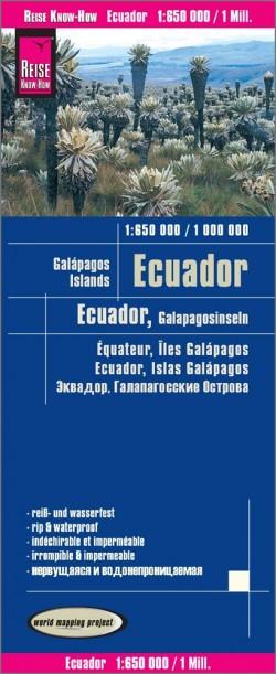 Wegenkaart Ecuador/Galapagos Islands 1:650.000  8.A 2018