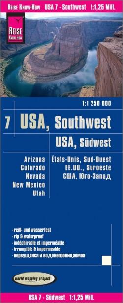 Landkaart USA-7 Südwest/Southwest 1:1,25 mil. 7.A 2018