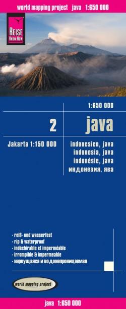 Landkaart Indonesia/Indonesië 2: Java 1:650.000  3.A 2016