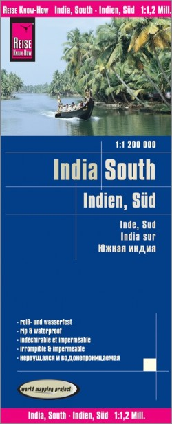 Landkaart India - South/Indien Süd 1:1 200 000 9.A 2018