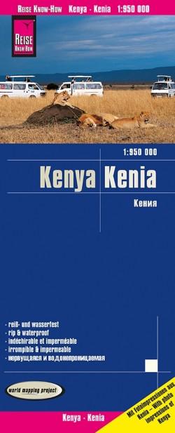 Wegenkaart Kenya 1:950.000  6.A 2020