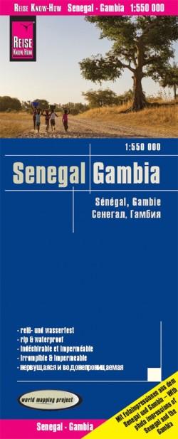 Landkaart Senegal & Gambia 1:550.000  5.A 2019