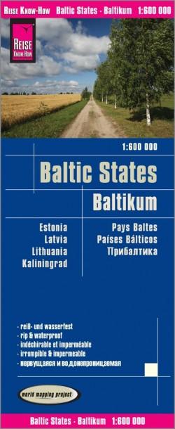 Wegenkaart Baltic States | Baltikum 1:600.000 5.A 2018