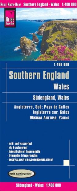 Wegenkaart Southern England/Wales 1:400.000 3.A  2019