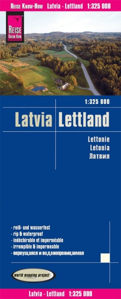 Wegenkaart Lettland/Latvia 1:325.000  5.A 2019