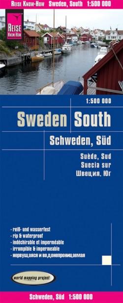 Wegenkaart Sweden - South 1:500.000  4.A 2019