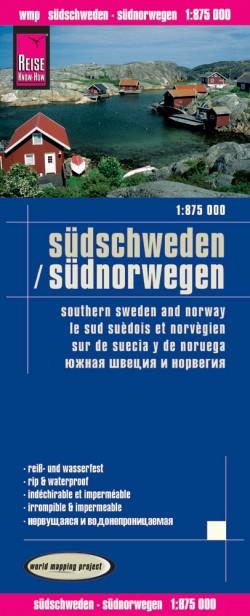 Wegenkaart Südschweden/Südnorwegen  1:875.000 4.A 2016