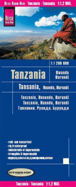 Wegenkaart Tanzania/Rwanda/Burundi 1:1.200.000  9.A 2019