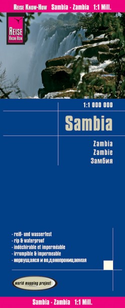 Landkaart Sambia 1:1.000.000  3.A 2017
