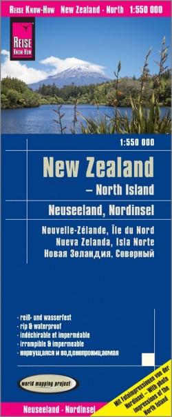 Wegenkaart New Zealand - North Island 1:550.000 2.A 2018