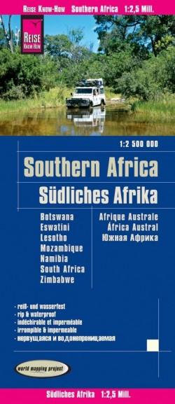 Wegenkaart Southern Africa - Zuidelijk Afrika 1:2,5m. 4.A 2020