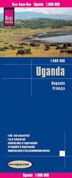 Wegenkaart Uganda 1:600.000  5.A 2019