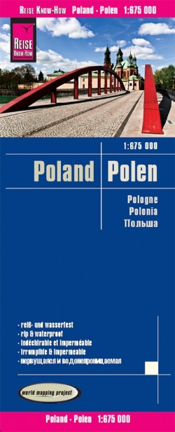 Wegenkaart Polen 1:850.000 4.A 2019