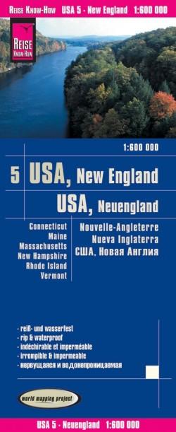 Landkaart USA-5 New England/Neuengland 1:600.000 4.A 2018