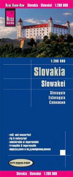 Wegenkaart Slovakia-Slowakei 1:280.000 3.A 2018