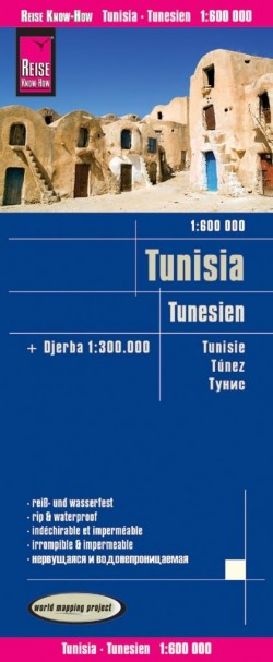 Wegenkaart Tunisia-Tunesien 1:600.000  5.A 2018