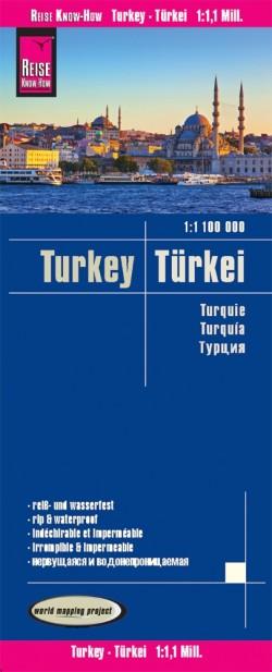 Wegenkaart LK Türkei 1:1,1 Mio  6.A 2019