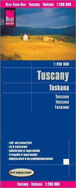 Landkaart Tuscany/Toskana 1:200.000  3.A 2018