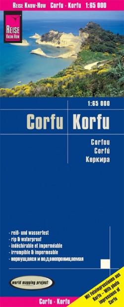 Landkaart Corfu-Korfu 1:65.000 5.A 2019