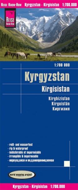 Wegenkaart Kyrgystan - Kirgistan 1:700.000  1.A 2019