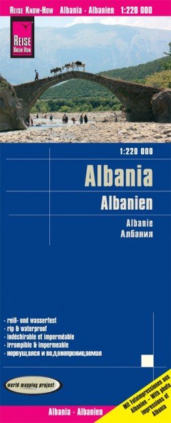 Wegenkaart LK Albania/Albanien 1:220.000 10.A  2020