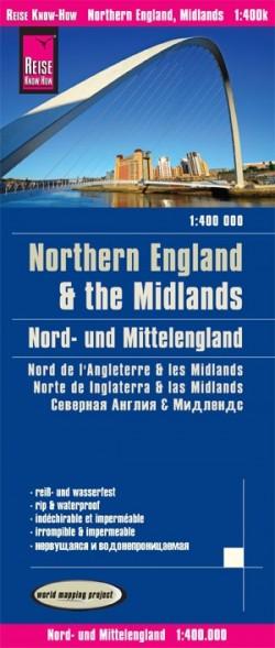 Wegenkaart Northern England & The Midlands 1:400.000 1.A  2020