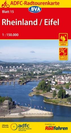 Fietskaart ADFC Radtourenkarte 15  Rheinland - Eifel 1:150.000 14.A 2019
