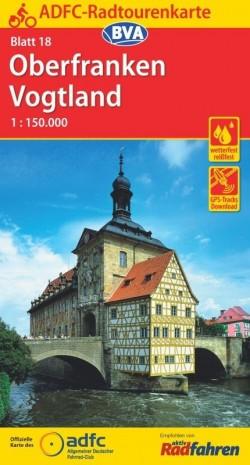 Fietskaart ADFC Radtourenkarte 18 Oberfranken/Vogtland 1:150.000 (2018)