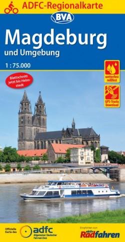 Fietskaart BVA Regionalkarte Magdeburg und Umgebung 1:75.000