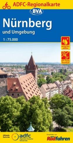 BVA-ADFC Regionalkarte Nürnberg und Umgebung 1:75.000 (7.A 2018)