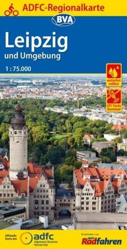 BVA-ADFC Regionalkarte Leipzig und Umgebung 1:75.000 (4.A 2018)