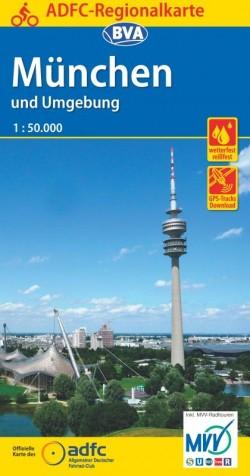 Fietskaart ADFC Regionalkarte München und Umgebung 1:75.000 (2019)