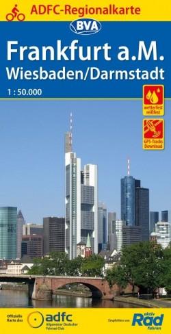 Fietskaart ADFC Regionalkarte Frankfurt a.M. Weisbaden/Darmstadt 1:50.000 (2019)