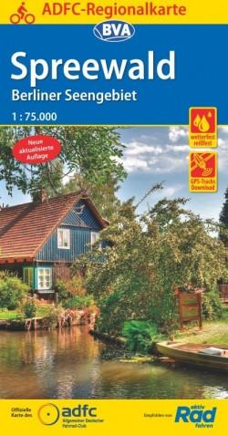 BVA-ADFC Regionalkarte Spreewald/Berliner Seengebiet 1:75.000 4.A 2019