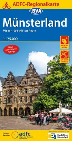 ADFC Regionalkarte Münsterland 1:75.000 (10.A 2019)