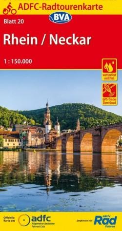 Fietskaart ADFC Radtourenkarte 20 Rhein - Neckar 1:150.000 (2019)