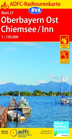 Fietskaart ADFC Radtourenkarte 27 Oberbayern Ost - Chiemsee/Inn 1:150.000 (2019)