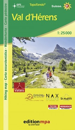 TopoRando Val d'Hérens 1:25.000
