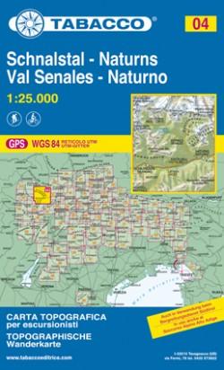 Wandelkaart Dolomiten Blad 04 - Val Senales-Naturno (GPS) 2017