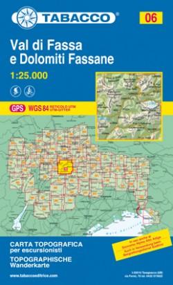 Wandelkaart Dolomiten Blad 06 - Val di Fassa e Dolomiti Fassane (GPS)