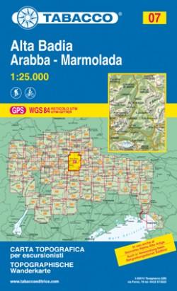 Wandelkaart Dolomiten Blad 07 Alta Badia/Arabba-Marmolada 1:25.000 (GPS) 2017