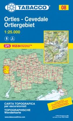Wandelkaart Dolomiten Blad 08 - Ortler-Cevedale / Ortlergebiet 1:25.000 (GPS) 2016