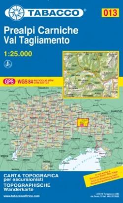 Wandelkaart Dolomiten Blad 013 - Prealpi Carniche Val Tagliamento 1:25.000 (2015)