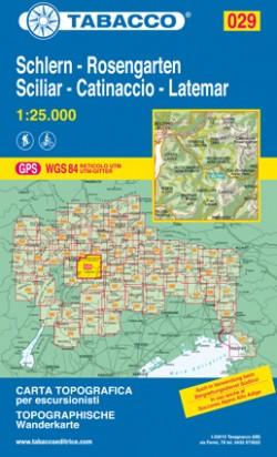 Wandelkaart Dolomiten Blad 029 - Schlern-Rosengarten/Sciliar-Catinaccio-Latemar (GPS) 2017